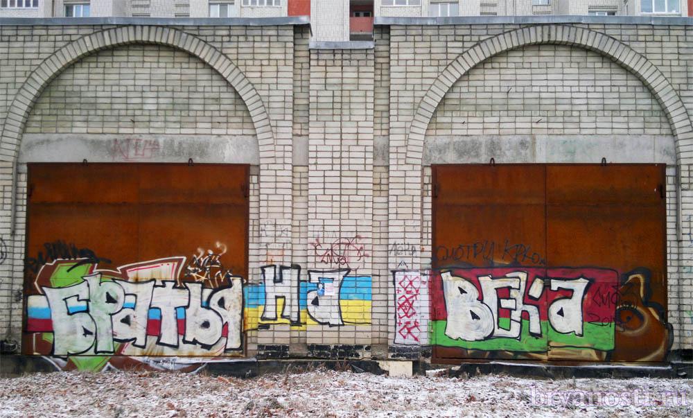 Граффити на улице Бежицкой.